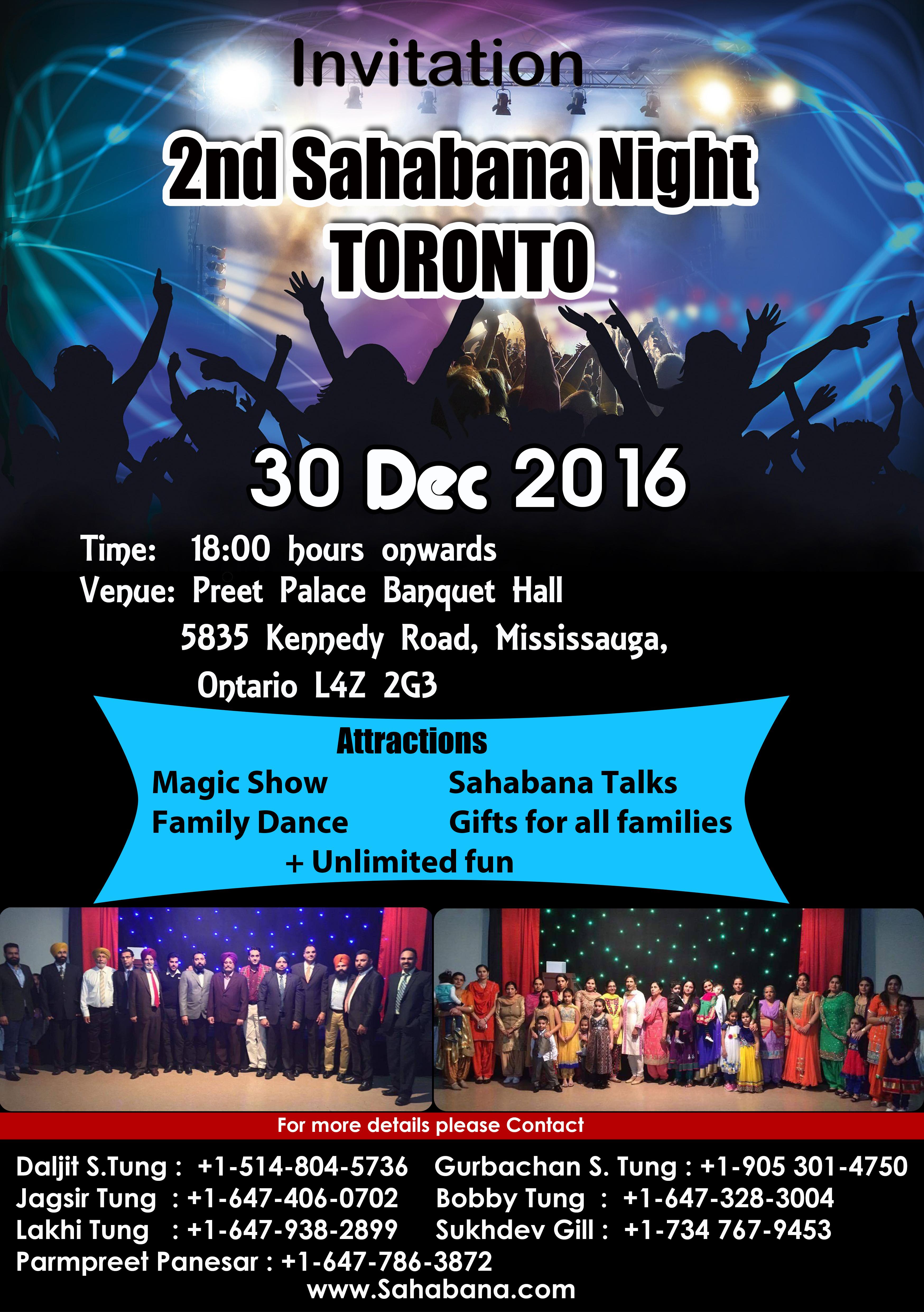 2nd Sahabana Night Toronto